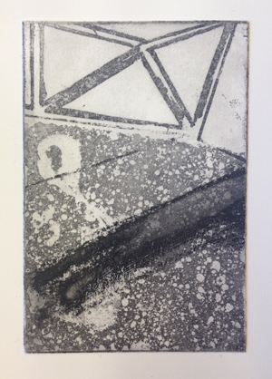Sugar Lift, Coarse Aquatint, Enrique Santiago